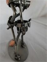 H & K Sheriff / Policeman Officer Steel Sculpture