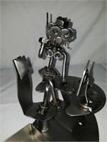 H & K Women Worker at Desk Steel Sculpture