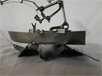H & K Fisherman Steel Sculpture with COA