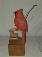 Rare Beautiful Ahrendt Wood Sculpted Cardinal