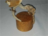 RARE Signed Ahrendt Brown Bird Wood Sculpture