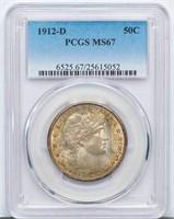 50C 1912-D PCGS MS67