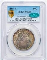 50C 1895-S PCGS MS67 CAC