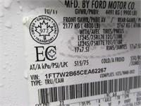 2012 FORD F250 XLT CREW CAB 4X4