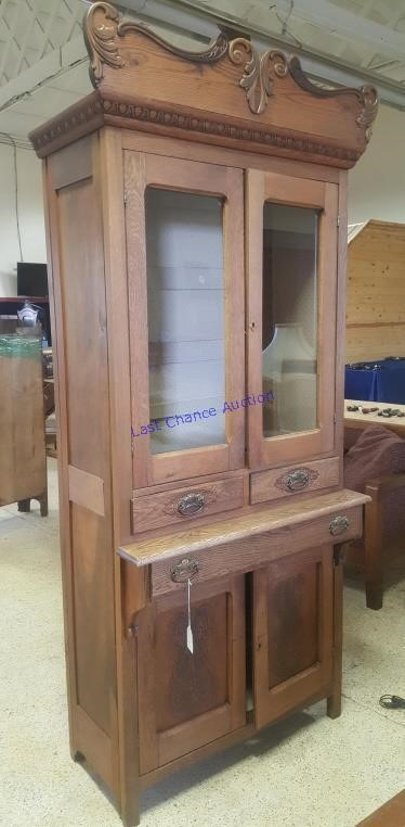 Antique Tall Kitchen Cupboard Cabinet Last Chance Auction