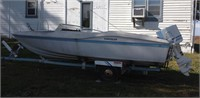 Chrysler boat, motor and trailer