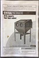 40 lb. capacity floor blast cabinet