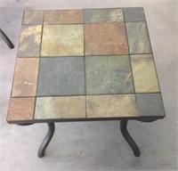 2 Tile top end tables