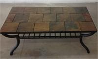 Tile top coffee table