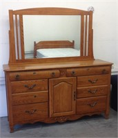Modern dresser with mirror