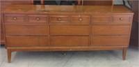 Older 10-drawer dresser with mirror