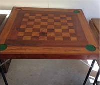 Homemade chess / checker table