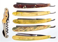 Rare straight razors and a corkscrew from the Wentz Collection