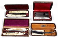 Fine razors from the Wentz Collection, including many boxed sets