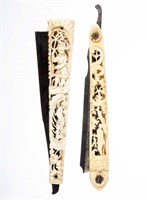 Fine razors from the Wentz Collection, including carved bone examples