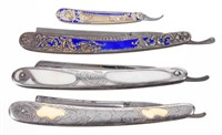 Fine razors from the Wentz Collection, including silver examples