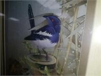 Handmade 3D Blue Bird Framed Paper Sculpture