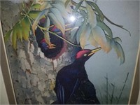 Handmade Framed 3D Woodpecker Paper Sculpture