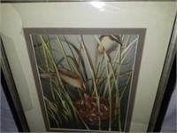 Framed Mother Bird Feeding The Young Sculpture