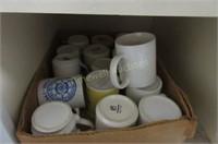 Cupboard full of mugs