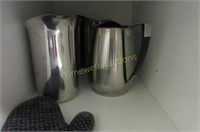 Stainless tea pots and water jugs
