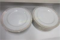 "Meakin ""Gold Crown"" pattern dinner plates"