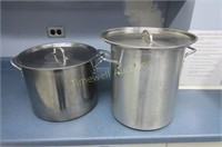 Two stock pots