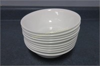 Approximately 20 Corelle soup bowls