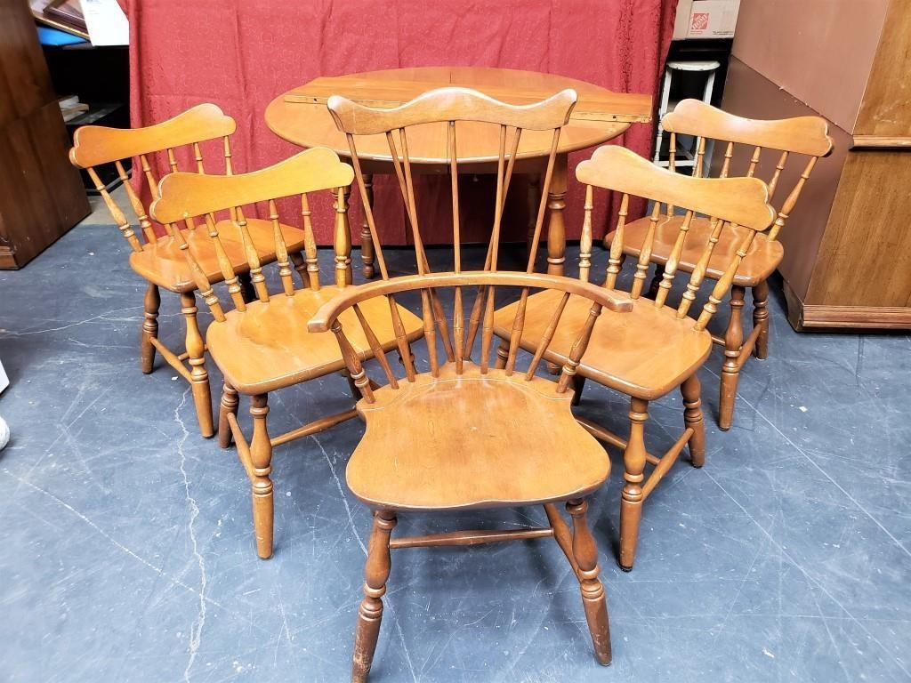 Lot 87 Temple Stuart Rockport Maple Table Chairs