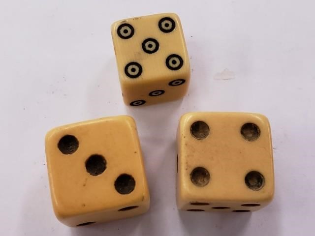 Antique Carved Bone Or Ivory Dice Antique 2 Modern Auction House