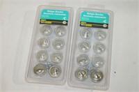 (2) x 10 Pack Satin Nickel Knobs