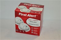2 pack First Alert Smoke Alarms - A/C
