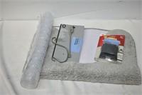 Toilet Floor Mat, Over the Door Hook,