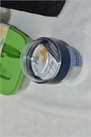 Lunch Bag (zipper broken) & Food Containers