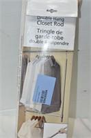 Double Hang Closet Rod & Shelf