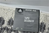 Small Accent Rug & Over the Door Rack