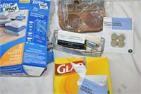 Ziploc Bags, Napkin Holder, Sponge Holder,etc.