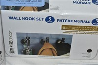 Coat Hook, Wall Hook, (2) Single Robe Hook