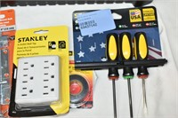 Stanley Tool Box, (6) Outlet Wall Tap, etc.