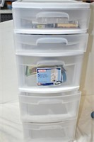Drawer Tower (Damaged), With Contents