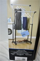 Adjustable Double Rod Garment Rack