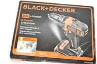 Black & Decker 20 Volt Lithium Drill/Driver
