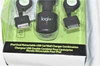 Logix iPad Dual Retractable USB Car/Wall