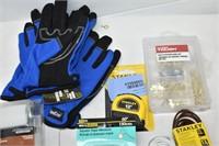 Gloves, Door Stoppers, Tape Measures, etc.
