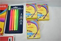 Crayons, Markers, Pencil Crayons, etc.