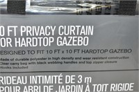 10 Ft. Privacy Curtain  for Hardtop Gazebo
