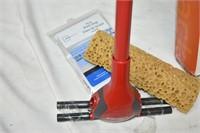Drying Rack, Vileda Sponge Mop, & Mesh