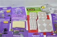 Tray of Hardware, Felt Pads, Suction Pads