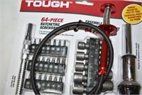 Hyper Tough 64-Piece Ratchet Screwdriver Set