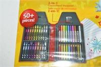 50-Piece Crayola Set, Sketch Paper & Stickers